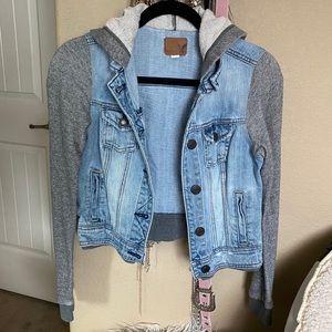 American eagle jean jacket sweater xs
